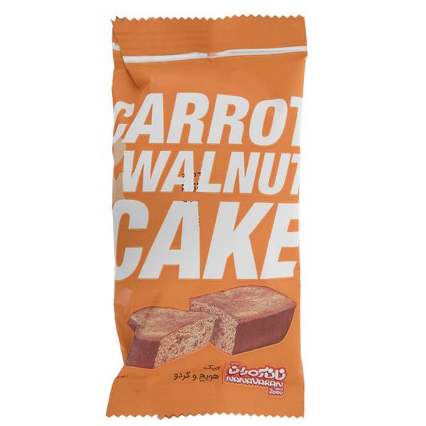 کیک هویج و گردو نان آوران مقدار 40 گرم