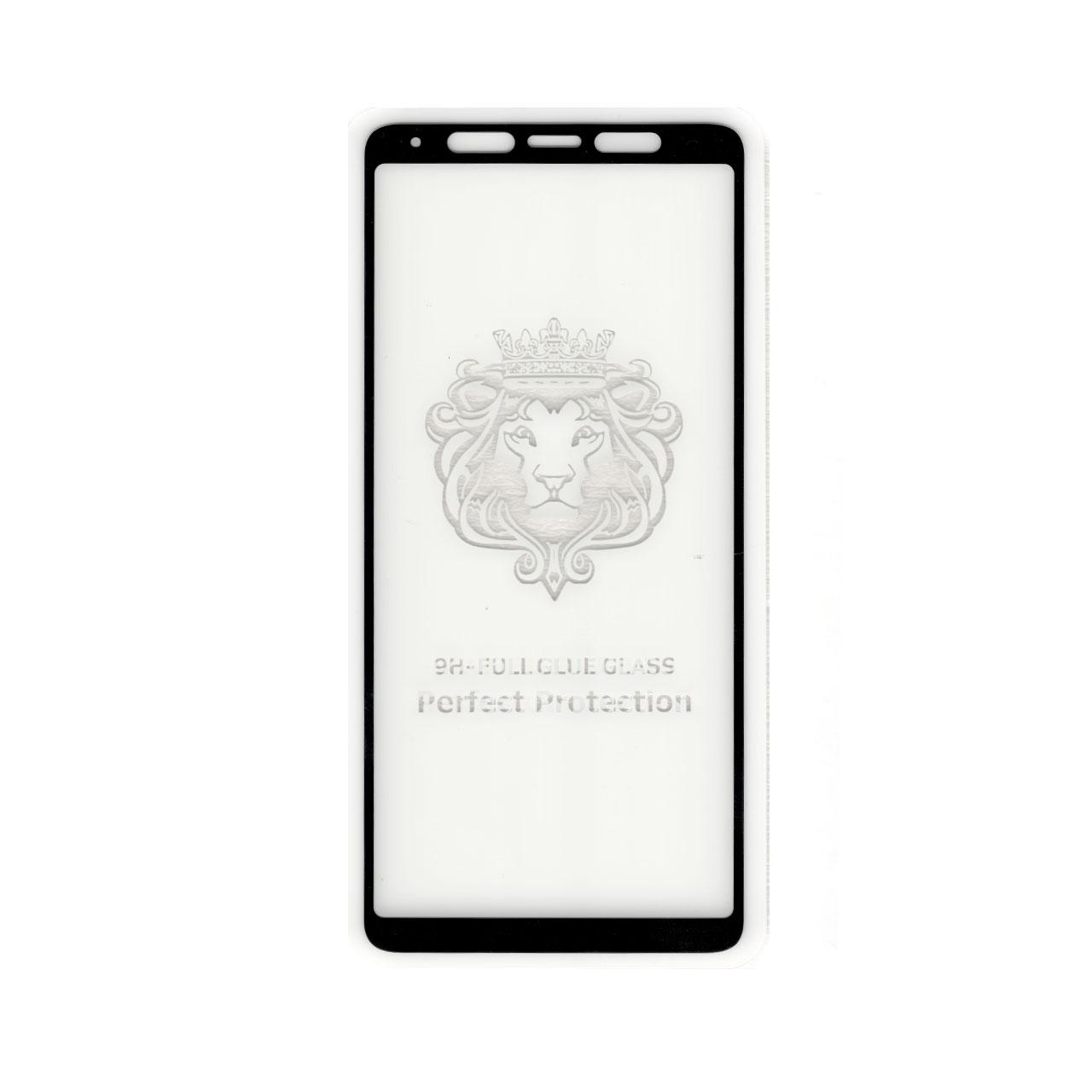 محافظ صفحه نمایش شیشه ای تمام چسب یوسمز مناسب برای گوشی موبایل سامسونگ Galaxy A7/A750 2018