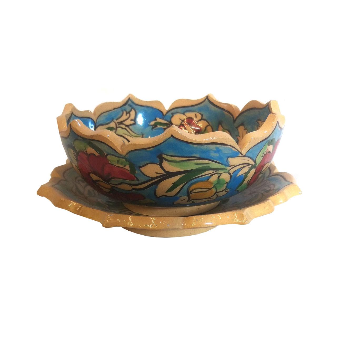 کاسه و بشقاب سفالی لوح هنر کد 943