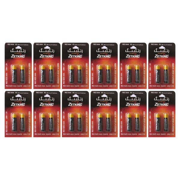باتری نیم قلمی زتکینگ مدل Super Heavy Duty بسته 24 عددی