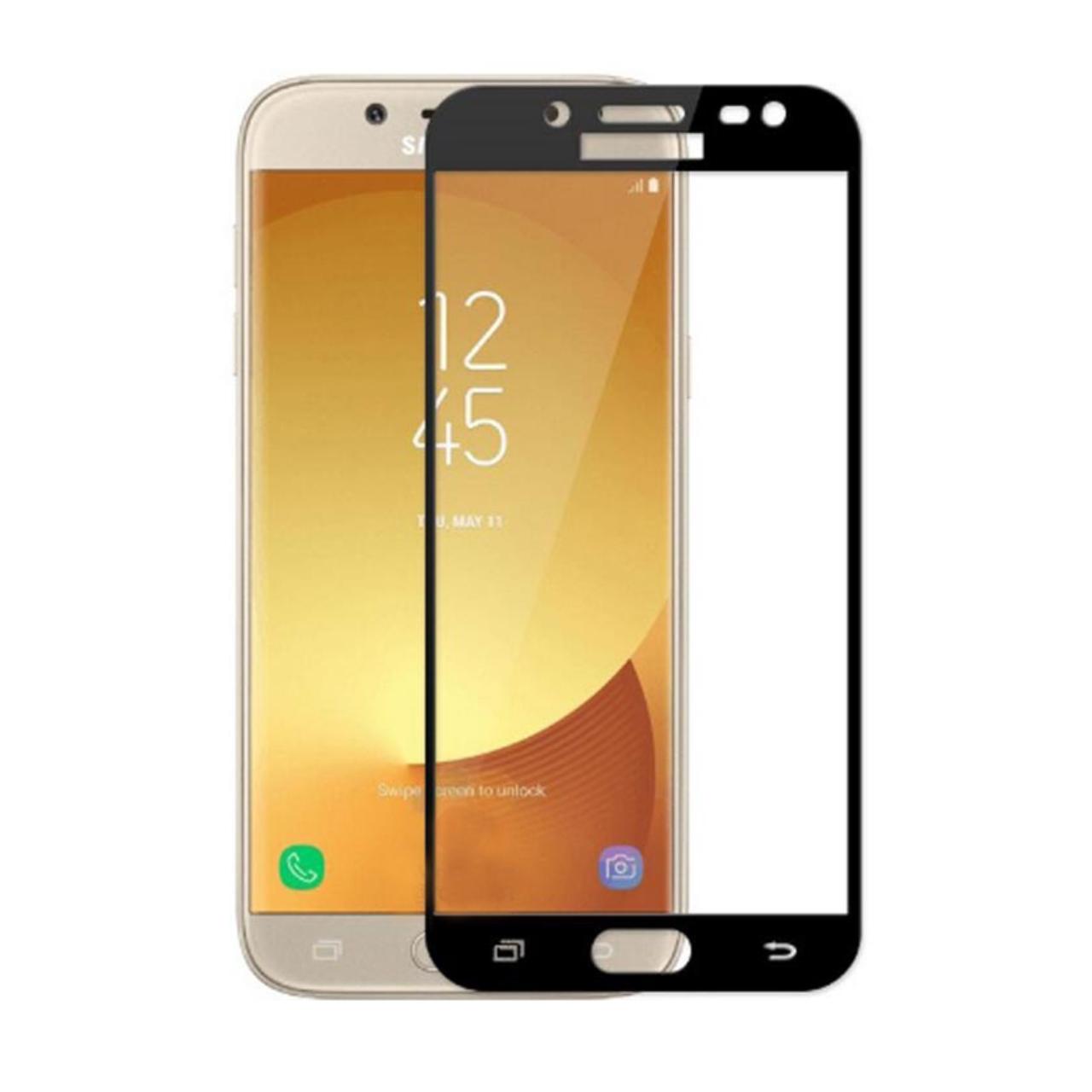 محافظ صفحه نمایش نیکسو مدل Full Glue مناسب برای گوشی موبایل سامسونگ گلکسی J7 Pro