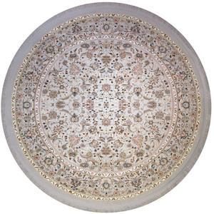 فرش ماشینی فرش رادین طرح گرد شاه عباسی آرامش 2 رنگ زمینه طوسی