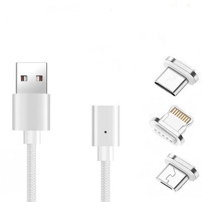 کابل تبدیل USB به لایتنینگ  Micro USB / USB-C ارلدام مدل et-mc63 Metal Magnetic طول 1 متر