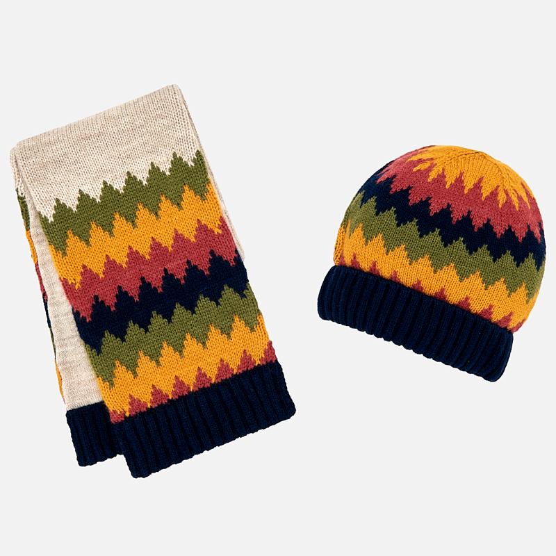 ست کلاه و شال گردن مایورال نوزادی مدل MY10447-21