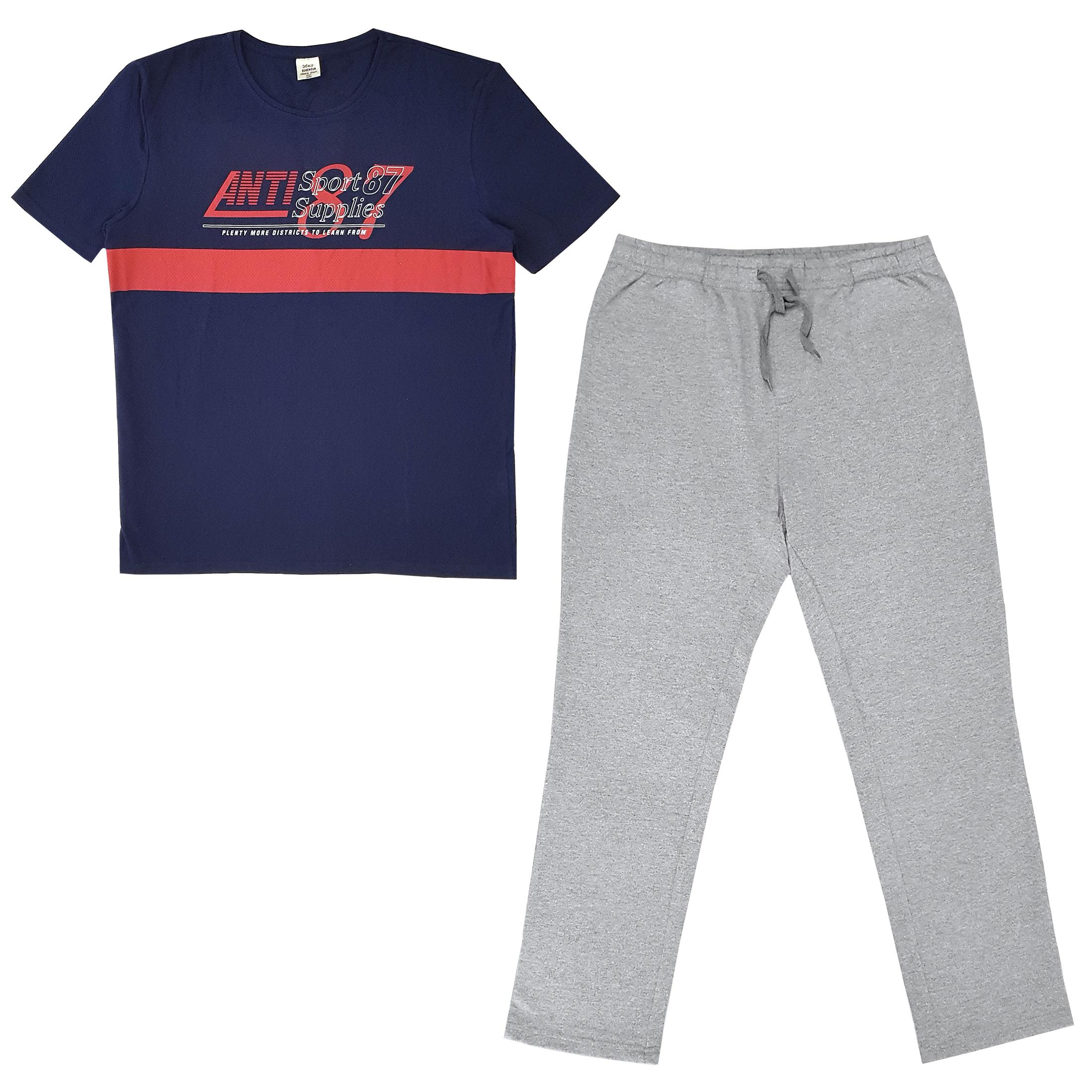 ست تی شرت و شلوار مردانه دفکتو مدل 83IN75