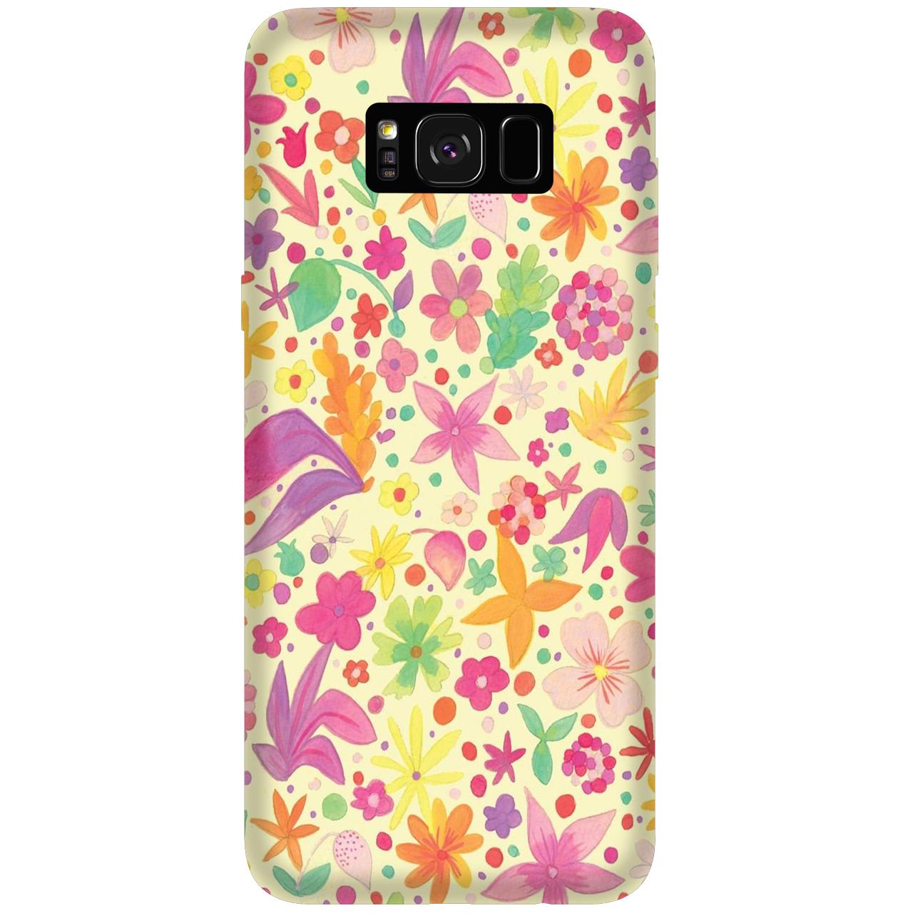 کاور  آکو  موبایل مدل C177 FlowerPattern مناسب برای گوشی موبایل سامسونگ Galaxy S8