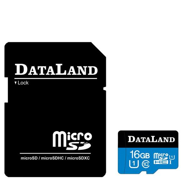 کارت حافظه microSDHC دیتالند مدل 533x کلاس 10 استاندارد UHS-I U1 سرعت 85MBps ظرفیت 16 گیگابایت همراه با آداپتور SD
