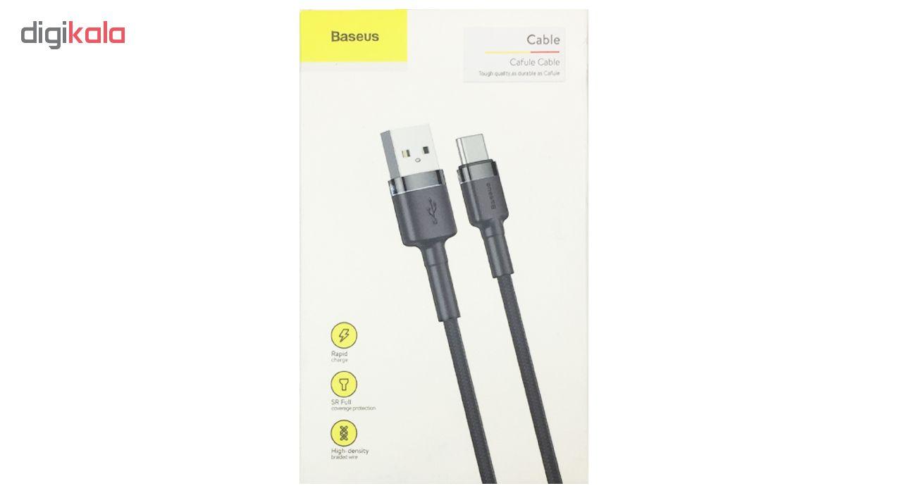 کابل تبدیل USB به USB-C باسئوس مدل Cafule طول 1 متر main 1 3
