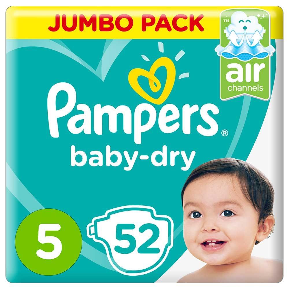 پوشک  پمپرز  مدل  Baby Dry  سایز  5  بسته  52  عددی