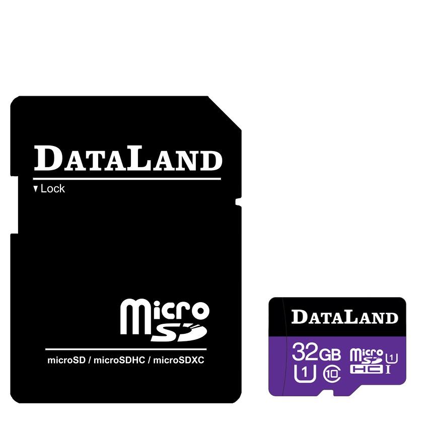 کارت حافظه microSDHC دیتالند مدل 533x کلاس 10 استاندارد UHS-I U1 سرعت 85MBps ظرفیت 32 گیگابایت همراه با آداپتور SD