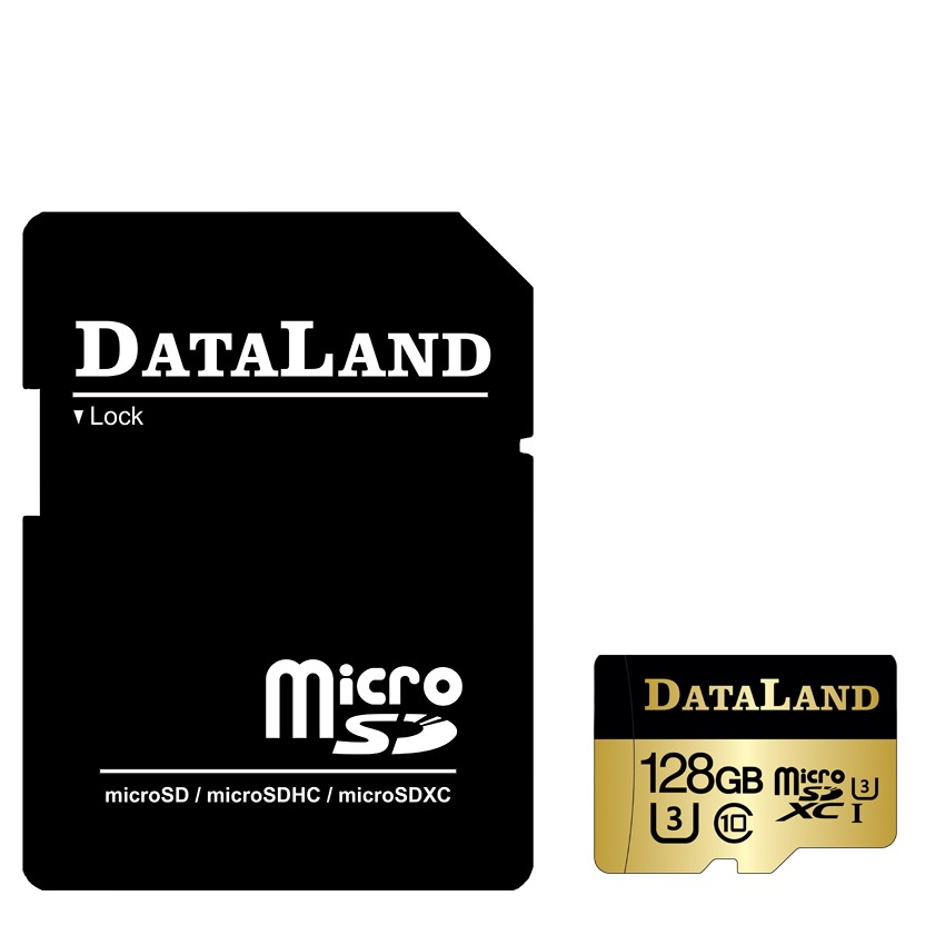کارت حافظه دیتالند مدل 600x کلاس 10 استاندارد UHS-I U3 سرعت 100MBps ظرفیت 128 گیگابایت همراه با آداپتور SD