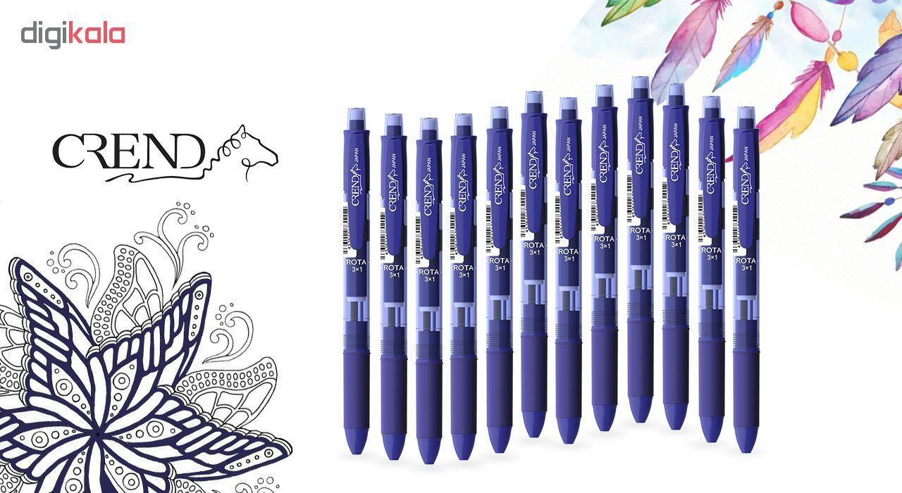 قلم سه کاره کرند مدل ROTA (مداد نوکی ۰.۵ و دو رنگ خودکار0.7)تک عددی main 1 2