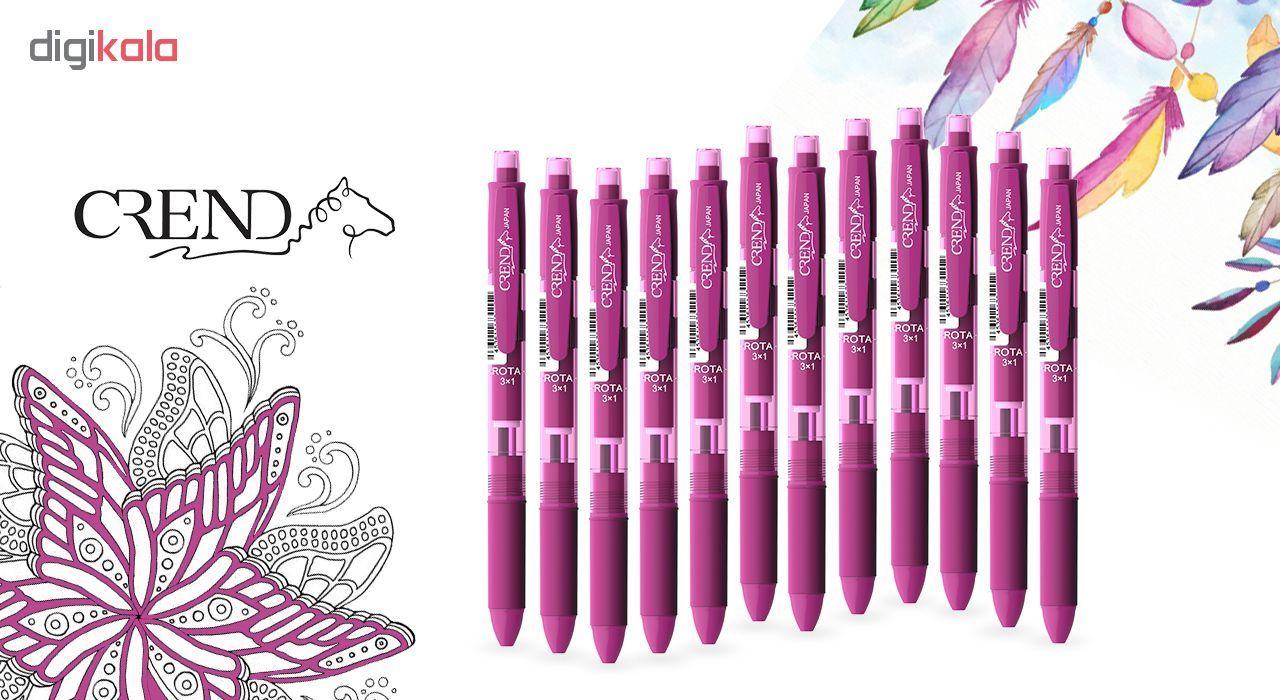 قلم سه کاره کرند مدل ROTA (مداد نوکی ۰.۵ و دو رنگ خودکار0.7)تک عددی main 1 3