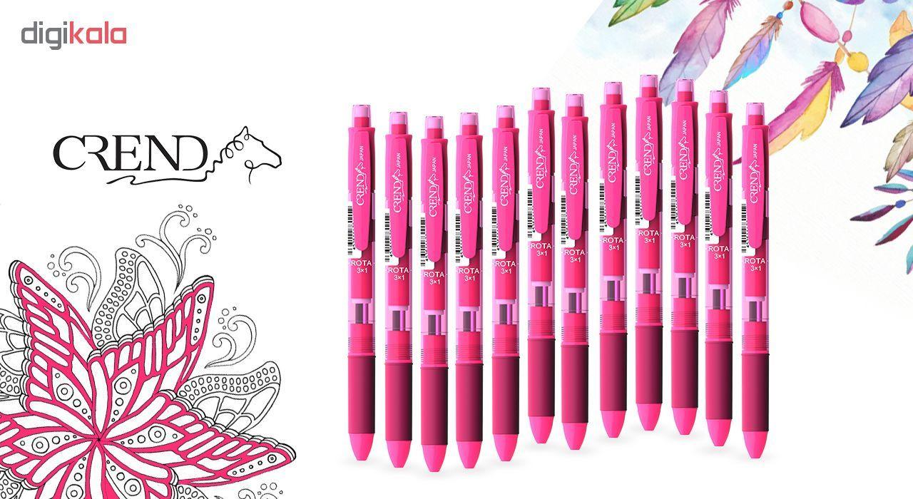 قلم سه کاره کرند مدل ROTA (مداد نوکی ۰.۵ و دو رنگ خودکار0.7)تک عددی main 1 4