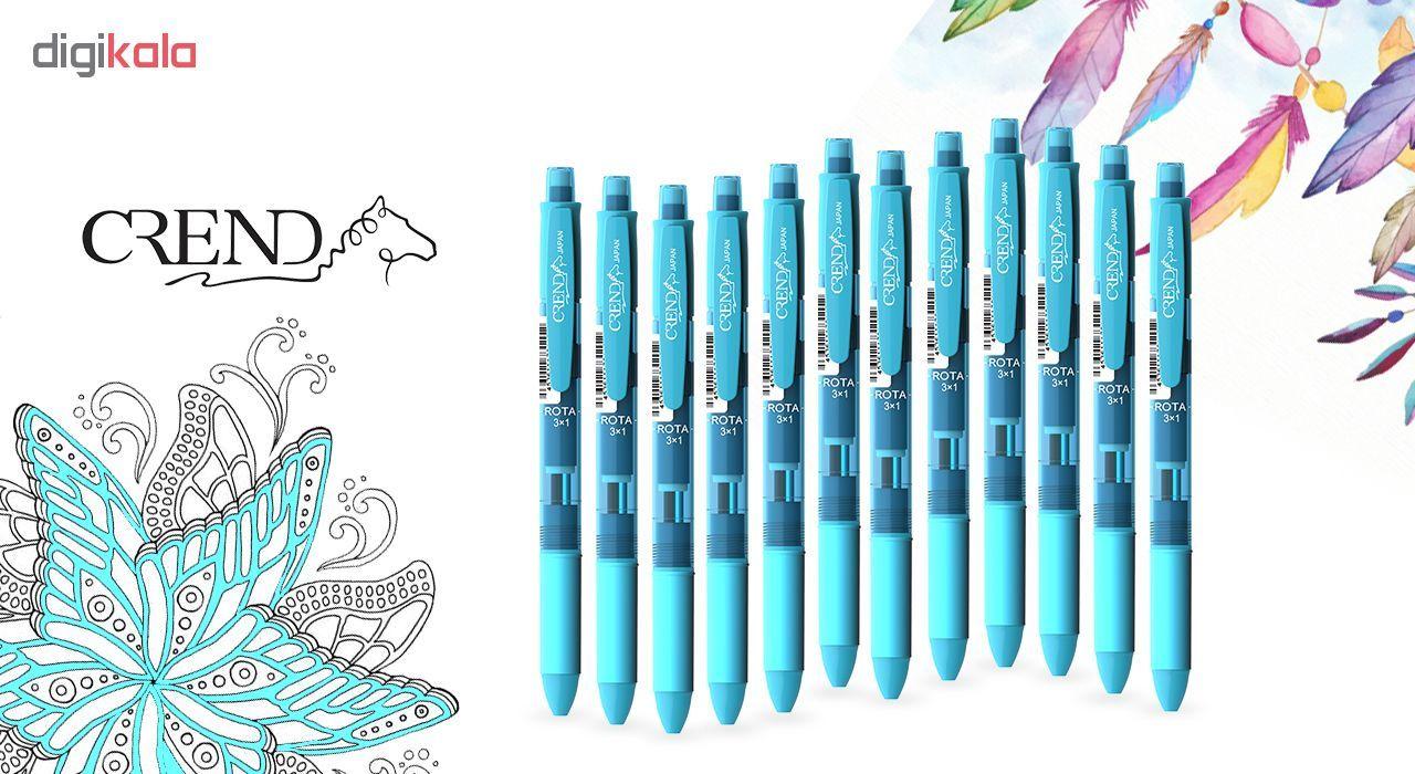 قلم سه کاره کرند مدل ROTA (مداد نوکی ۰.۵ و دو رنگ خودکار0.7)تک عددی main 1 5