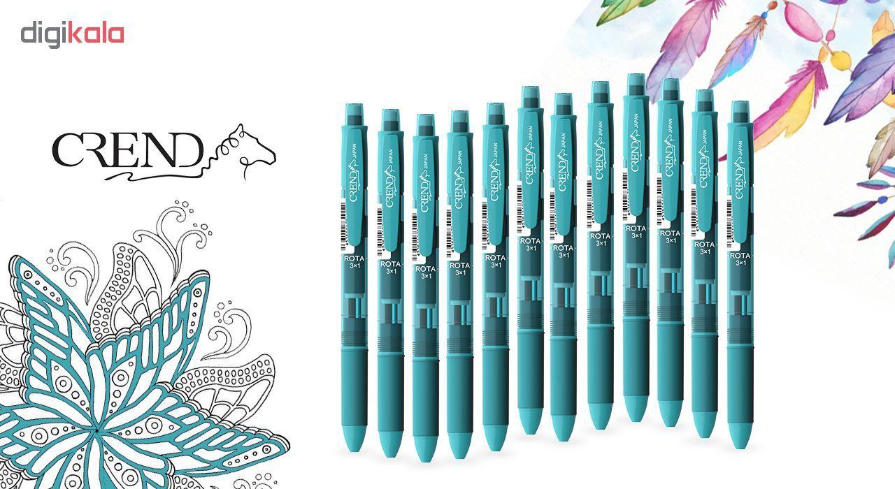قلم سه کاره کرند مدل ROTA (مداد نوکی ۰.۵ و دو رنگ خودکار0.7)تک عددی main 1 6