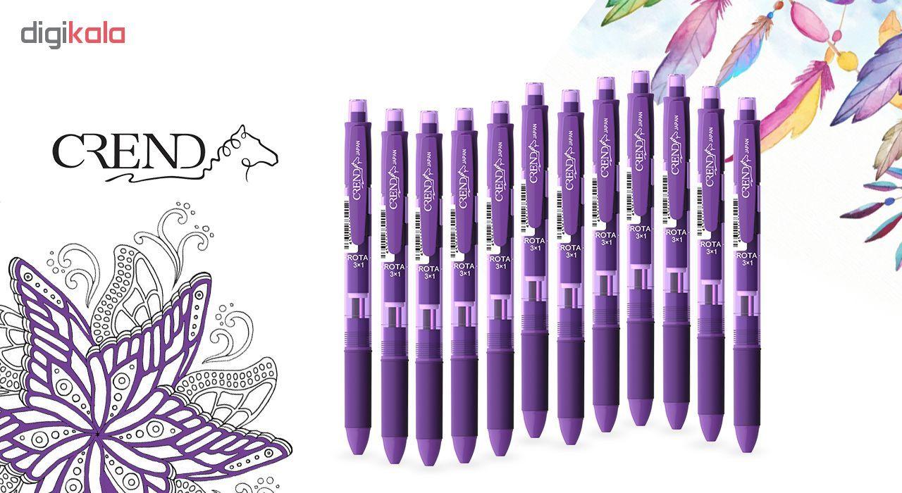 قلم سه کاره کرند مدل ROTA (مداد نوکی ۰.۵ و دو رنگ خودکار0.7)تک عددی main 1 7