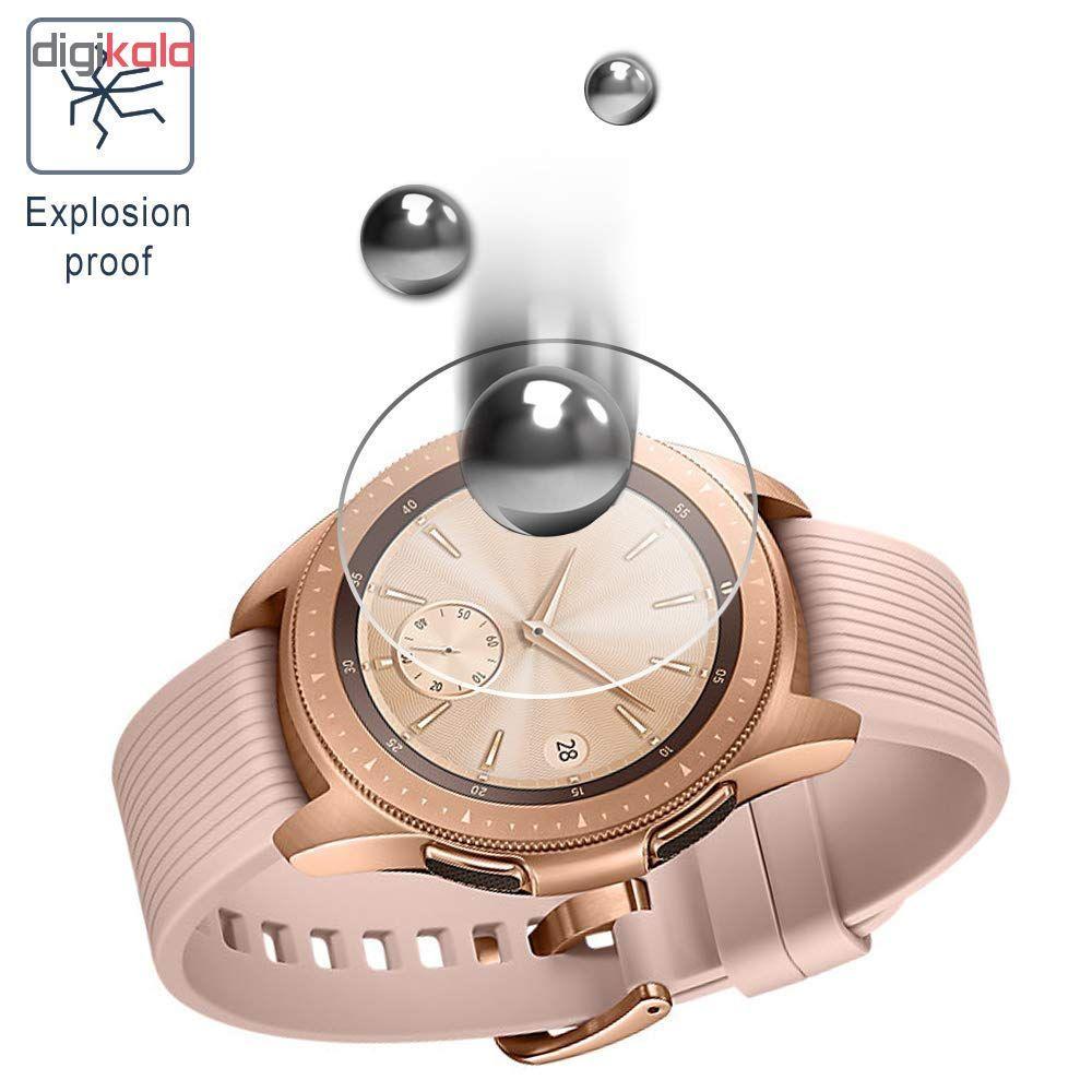 محافظ صفحه نمایش گلس هورس مدل Ultra Clear Crystal مناسب برای ساعت سامسونگ Galaxy Watch 42mm بسته دو عددی main 1 3