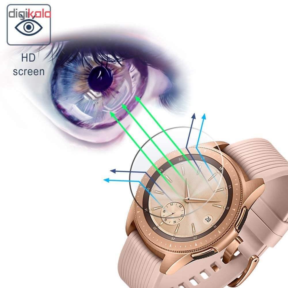 محافظ صفحه نمایش گلس هورس مدل Ultra Clear Crystal مناسب برای ساعت سامسونگ Galaxy Watch 42mm بسته دو عددی main 1 4