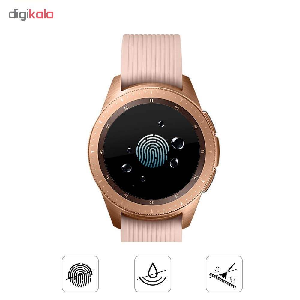محافظ صفحه نمایش گلس هورس مدل Ultra Clear Crystal مناسب برای ساعت سامسونگ Galaxy Watch 42mm بسته دو عددی main 1 5