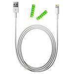 کابل شارژ آیفون USB به لایتنینگ مدل KL به طول 2 متر به همراه دو عدد محافظ کابل سیلیکونی thumb