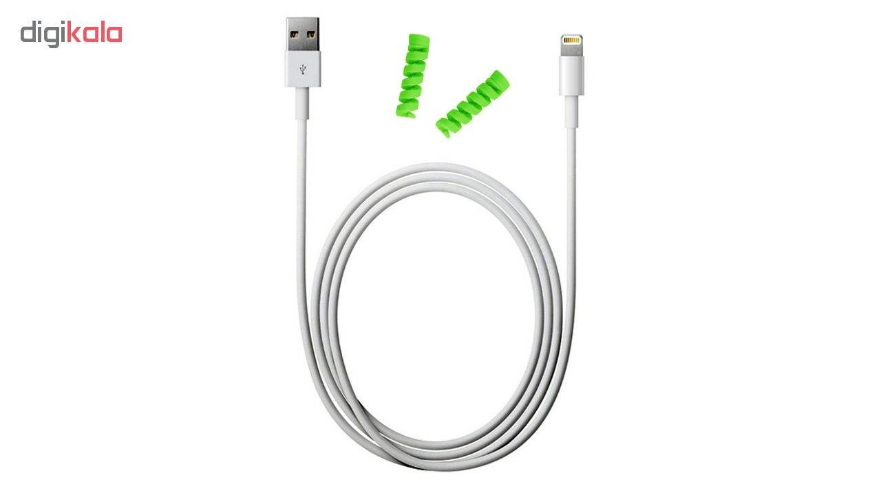 کابل شارژ آیفون USB به لایتنینگ مدل KL به طول 2 متر به همراه دو عدد محافظ کابل سیلیکونی main 1 1