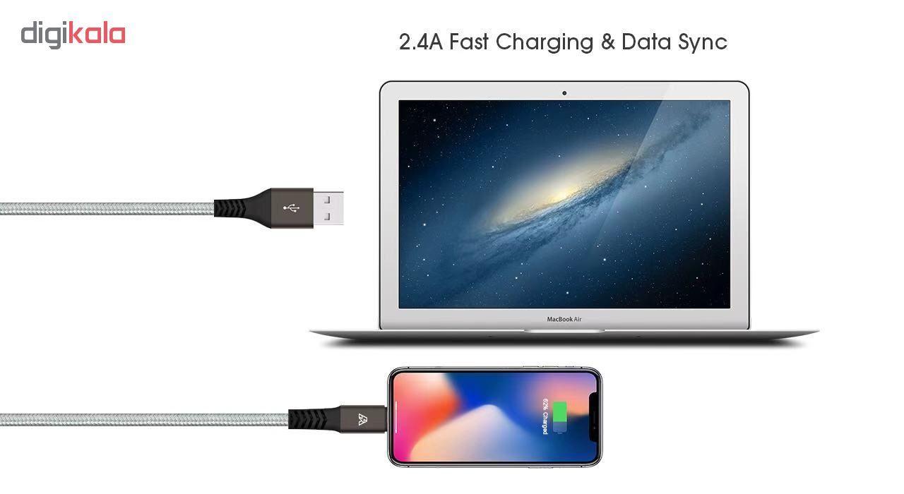 کابل تبدیل USB به لایتنینگ آیماس مدل Atough طول 1.8 متر main 1 9