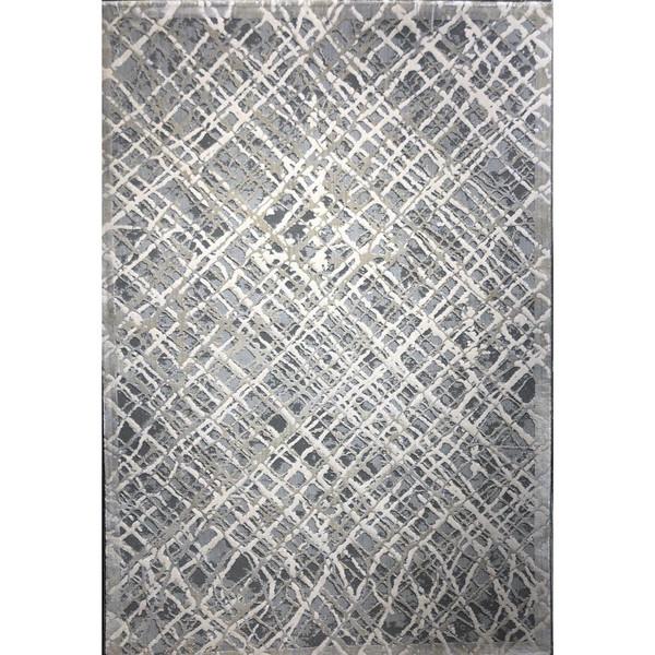 فرش ماشینی طرح پلاتینیوم کد 5002 زمینه طوسی