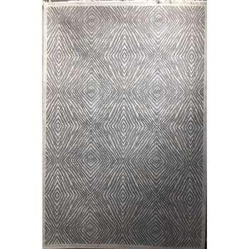 فرش ماشینی طرح پلاتینیوم کد 5005 زمینه طوسی