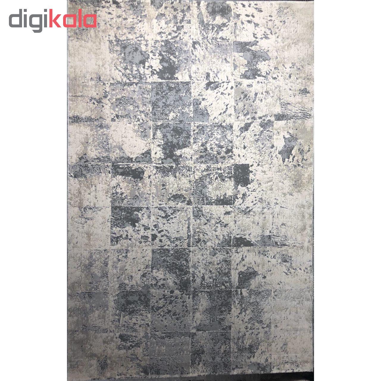 فرش ماشینی طرح پلاتینیوم کد 5004 زمینه طوسی