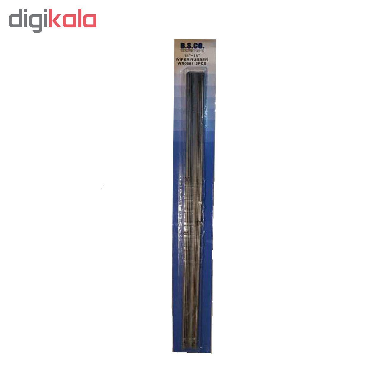 لاستیک تیغه برف پاکن بی.اس.کو مدل S4 مناسب برای پراید main 1 3