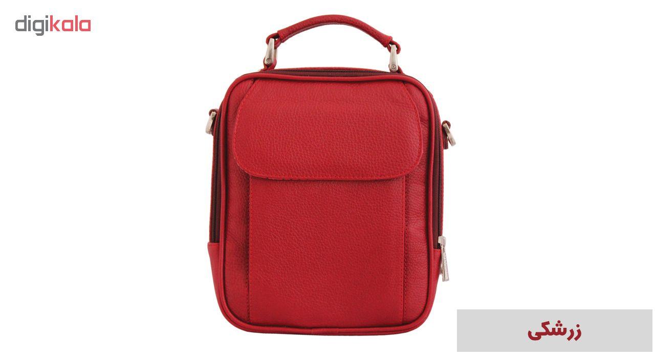 کیف دوشی اسپرت چرم طبیعی جانتا مدل 018
