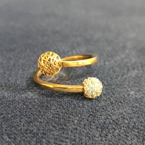 انگشتر طلا 18 عیار زنانه قیراط طرح دایره کد GH234