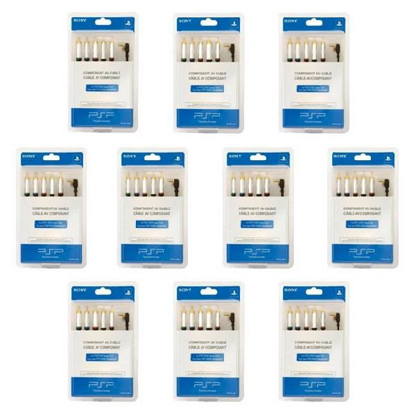 خرید اینترنتی [با تخفیف] کابل کامپوننت سونی مدل CMP10 طول 2.5 متر مناسب برای PSP 2000 و 3000 بسته 10 عددی اورجینال