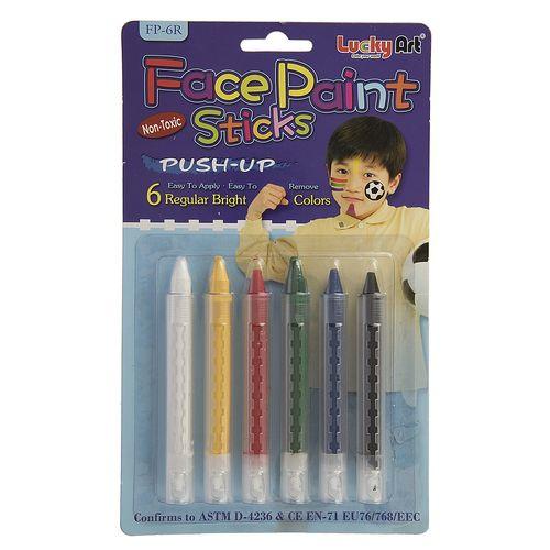 قلم گریم 6 رنگ لاکی آرت مدل Regular Bright