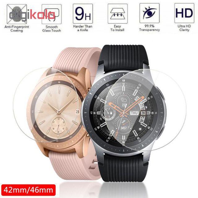 محافظ صفحه نمایش گلس هورس مدل Ultra Clear Crystal مناسب برای ساعت سامسونگ Galaxy Watch 46mm بسته دو عددی main 1 3