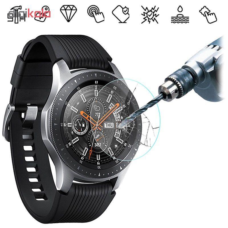 محافظ صفحه نمایش گلس هورس مدل Ultra Clear Crystal مناسب برای ساعت سامسونگ Galaxy Watch 46mm بسته دو عددی main 1 6