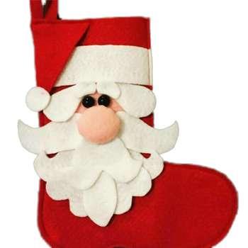جوراب تزئینی طرح بابانوئل