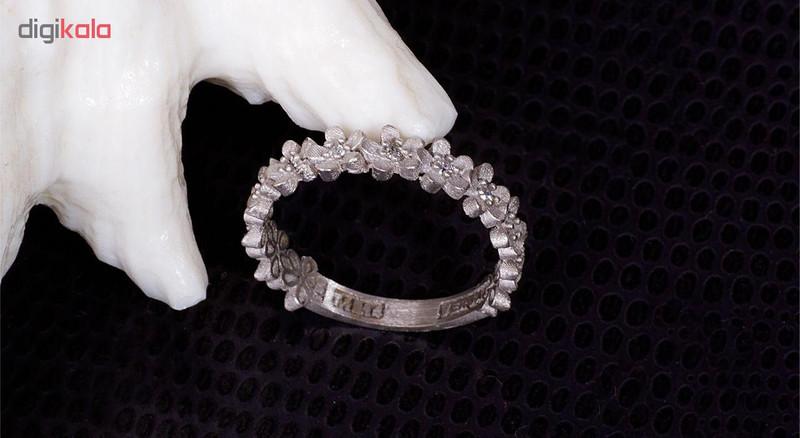 انگشتر طلا 18 عیار گالری مرجان مدل 0852