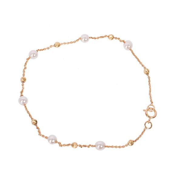 دستبند طلا 18 عیار گالری مرجان مدل 0855