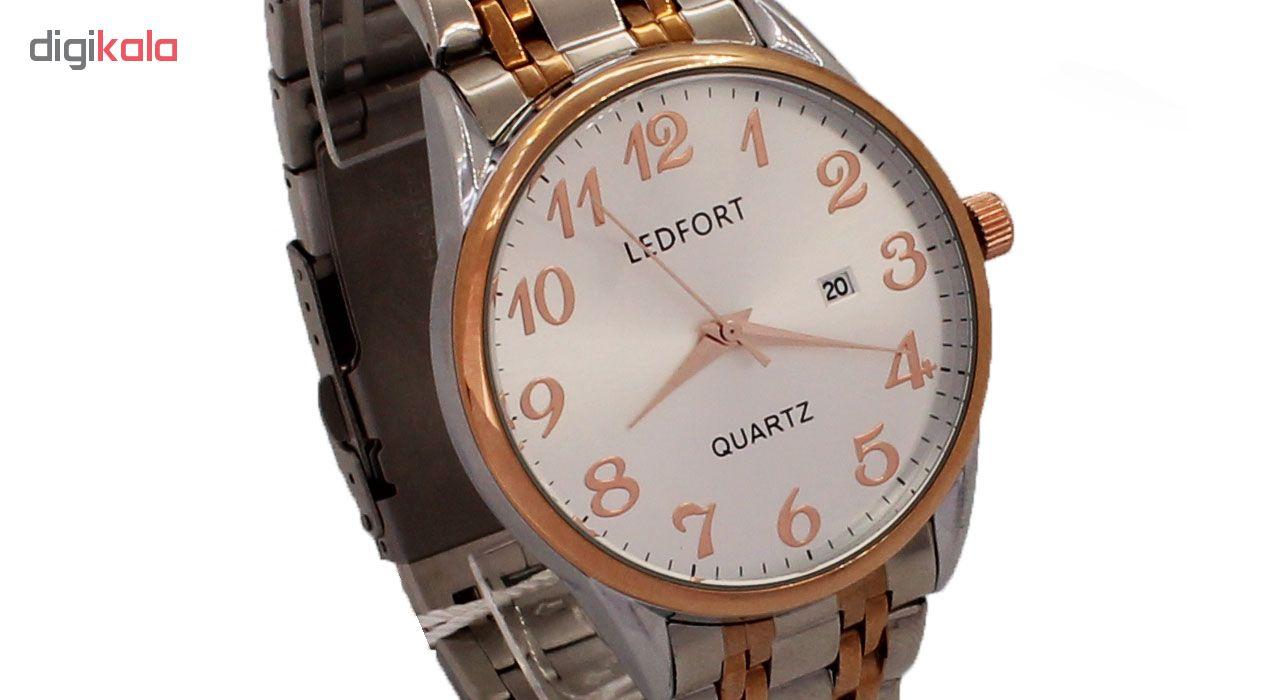 خرید ساعت مچی عقربه ای مردانه لدفورت کد MU-0030