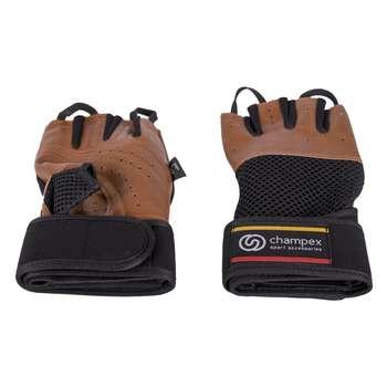 دستکش تمرین چمپکس مدل Gear Man Plus Leather Brown