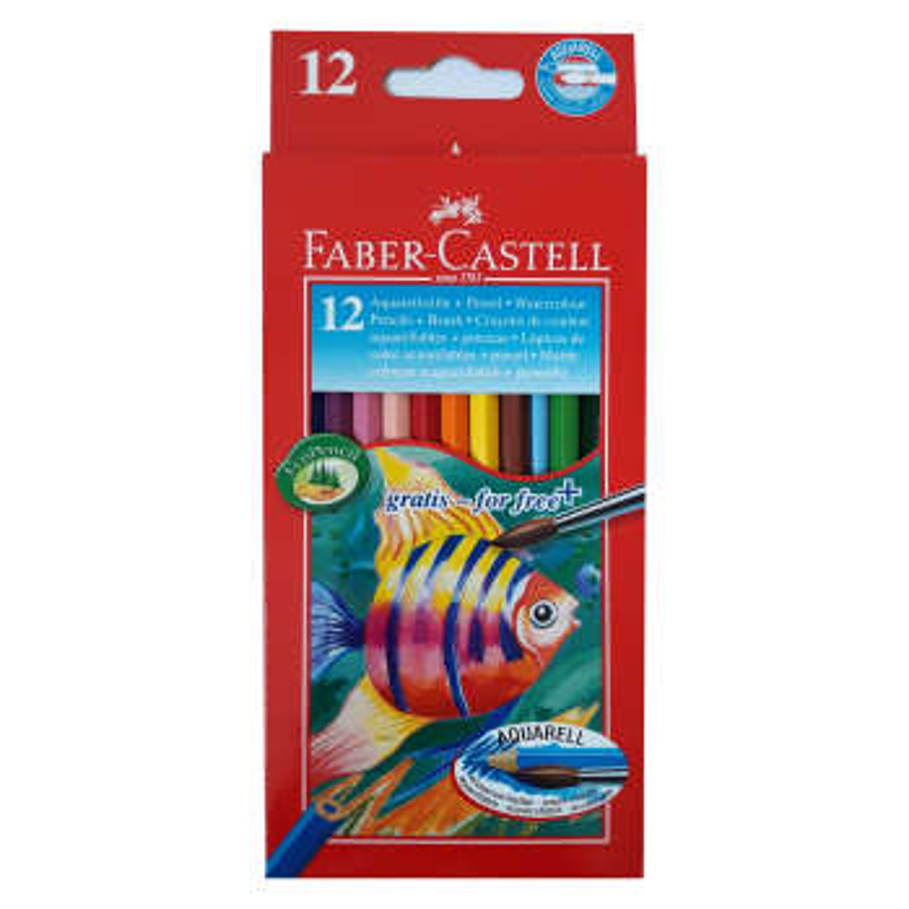 مدادرنگی 12 رنگ فابرکاستل مدل آبرنگی کد F43