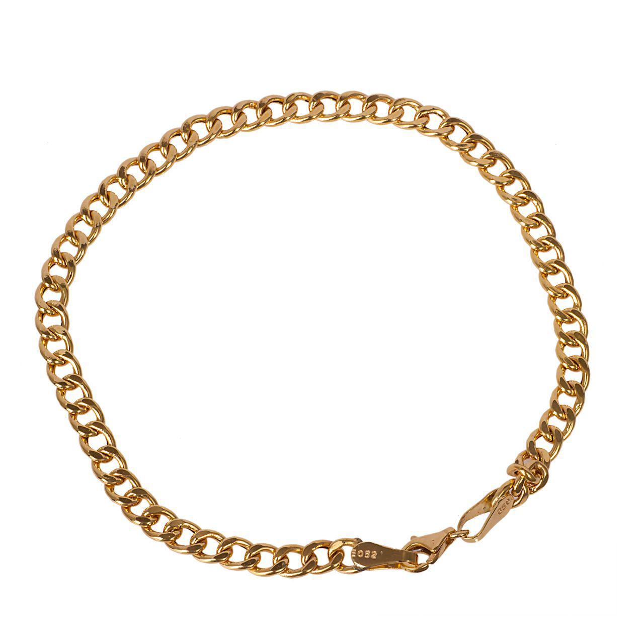قیمت دستبند طلا 18 عیار گالری مرجان طرح کارتیه مدل 0857