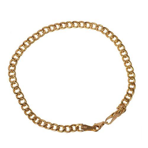 دستبند طلا 18 عیار گالری مرجان طرح کارتیه مدل 0857