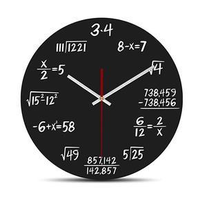 ساعت دیواری دکونوشاپ طرح ریاضی