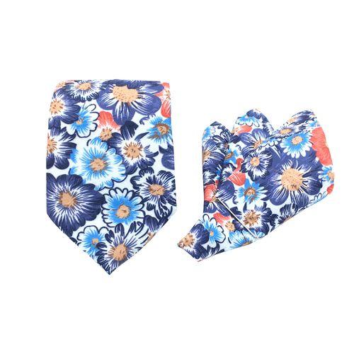 ست کراوات و دستمال جیب مدل KD-flower51