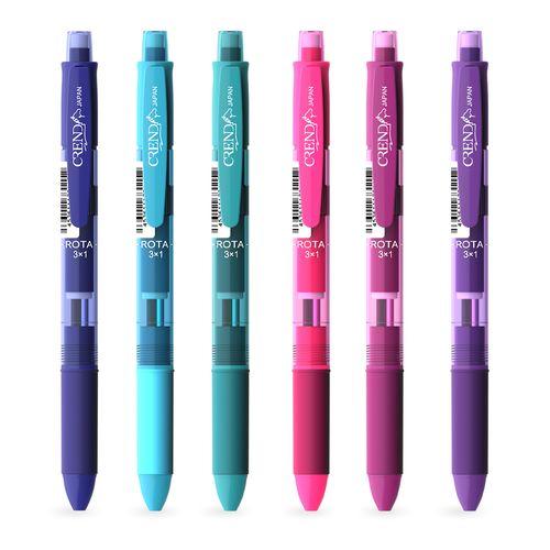 قلم سه کاره کرند مدل ROTA (مداد نوکی ۰.۵ و دو رنگ خودکار0.7)تک عددی