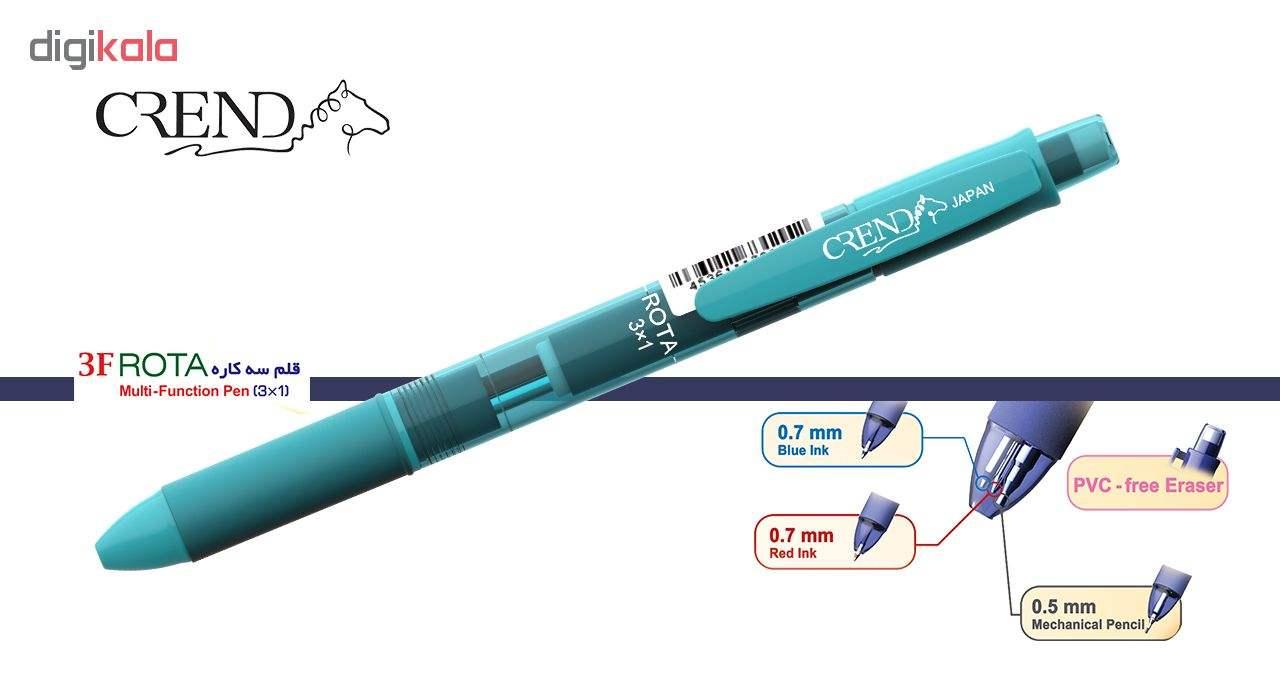 قلم سه کاره کرند مدل ROTA (مداد نوکی ۰.۵ و دو رنگ خودکار0.7)تک عددی main 1 9