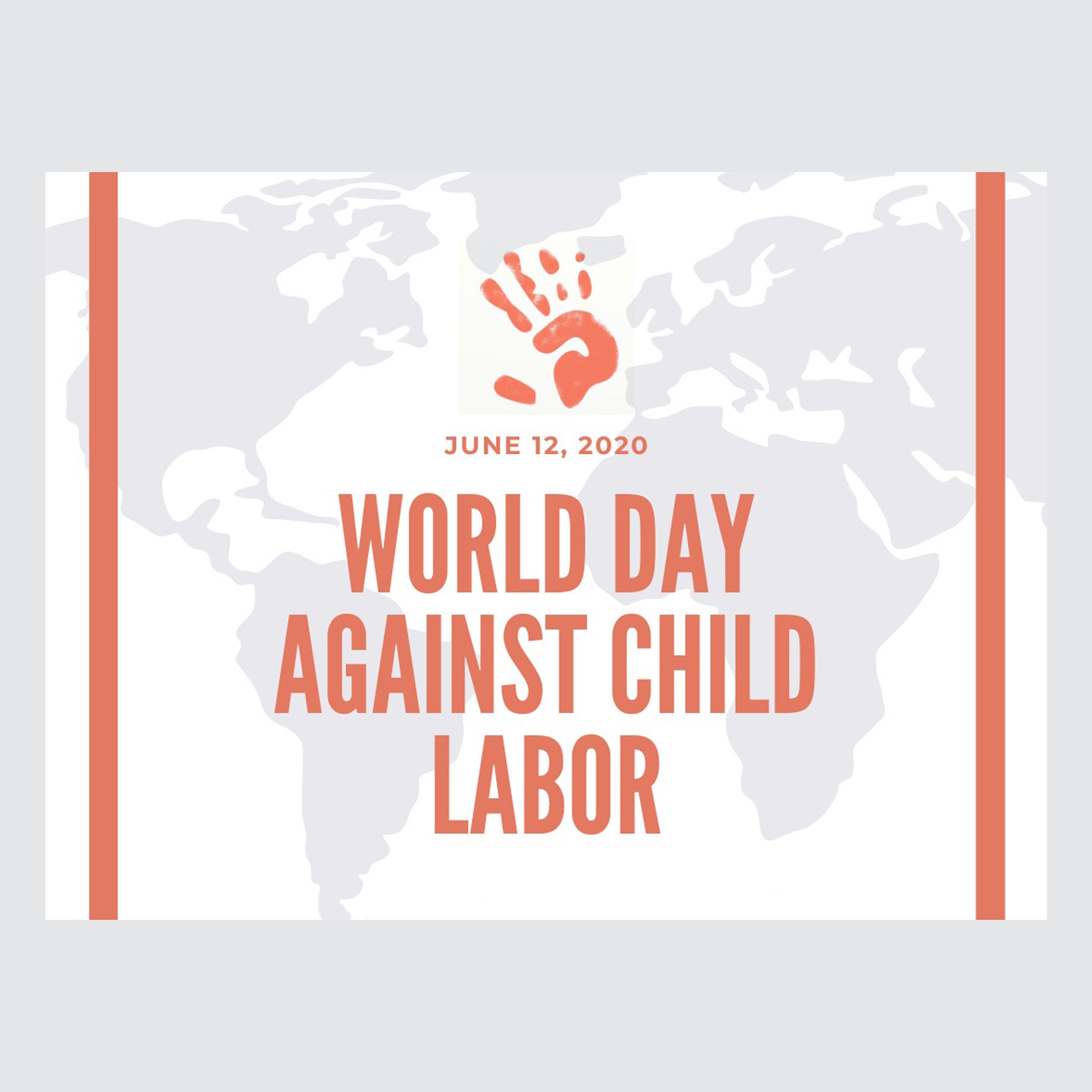 کارت پستال ماهتاب طرح روز مبارزه با کار کودکان کد 2424